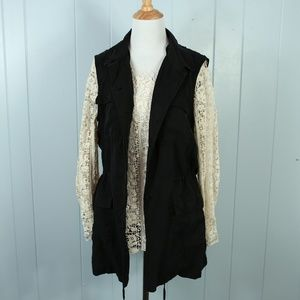 Buffalo David Bitton Black Vest NEW